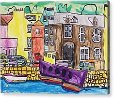 Acrylic Print featuring the painting Tobermory by Artists With Autism Inc