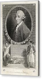 Tobias Smollett (1721 - 1771) - Acrylic Print by Mary Evans Picture Library