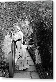 Toby Wing Standing In A Garden Gateway Acrylic Print