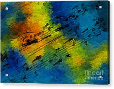 Toccata In Blue Acrylic Print
