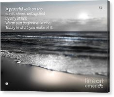 Today Black And White Acrylic Print by Jeffery Fagan