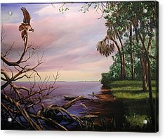 Acrylic Print featuring the painting Today's Catch by AnnaJo Vahle