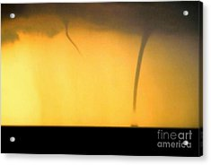 Todays Weather Sunny But Strong Chance Of A Water Spout Or Two Acrylic Print by Michael Hoard