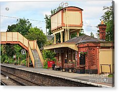 Toddington Railway Station In Gloucestershire Acrylic Print by Louise Heusinkveld