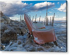 Toes In The Surf Acrylic Print by Scott Campbell