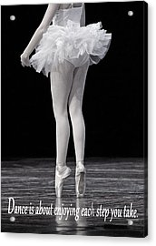 Toes Acrylic Print by Thomas Fouch