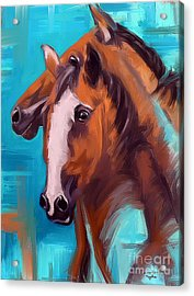 Acrylic Print featuring the painting Together 1 by Go Van Kampen
