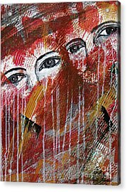 Together- Abstract Art Acrylic Print by Ismeta Gruenwald