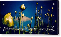 Together We Are Family Acrylic Print