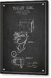 Toilet Bowl Patent From 1936 - Charcoal Acrylic Print by Aged Pixel