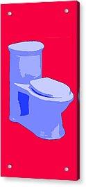 Toilette In Blue Acrylic Print