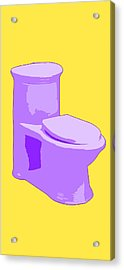 Toilette In Purple Acrylic Print
