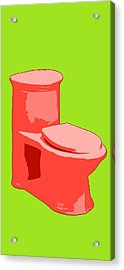 Toilette In Red Acrylic Print