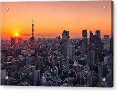Tokyo 10 Acrylic Print by Tom Uhlenberg