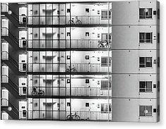 Tokyo - Five Bikes Acrylic Print by Michael Jurek