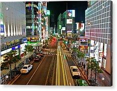 Tokyo Neon Streaks Acrylic Print