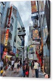 Tokyo Street Acrylic Print by Chris Coyle