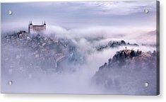 Toledo City Foggy Morning Acrylic Print
