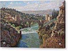 Toledo. San-martin Bridge Acrylic Print by Korobkin Anatoly