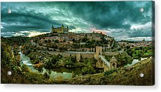 Toledo - The City Of The Three Cultures Acrylic Print by Pedro Jarque