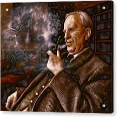 Acrylic Print featuring the painting Tolkien Daydreams by Dave Luebbert