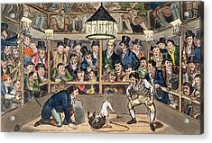 Tom And Jerry Sporting Their Blunt Acrylic Print by I. Robert & George Cruikshank