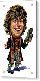 Tom Baker As The Doctor Acrylic Print by Art