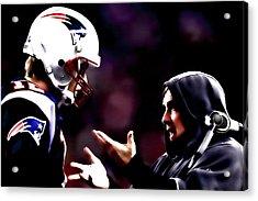 Tom Brady And Coach Acrylic Print