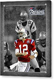Tom Brady Patriots Acrylic Print by Joe Hamilton