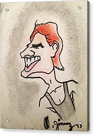 Tom Cruise Caricature Acrylic Print by Mario  Jimenez