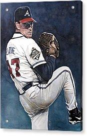 Tom Glavine - Atlanta Braves World Series Acrylic Print by Michael  Pattison