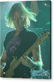 Acrylic Print featuring the photograph Tom Hamilton On Guitar by Jeepee Aero