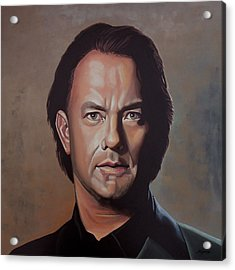 Tom Hanks Acrylic Print by Paul Meijering