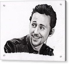 Tom Hiddleston 2 Acrylic Print by Rosalinda Markle