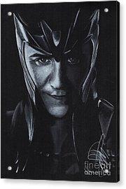 Tom Hiddleston Acrylic Print by Rosalinda Markle