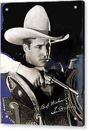 Tom Mix Portrait Melbourne Spurr Hollywood California C.1925-2013 Acrylic Print