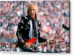 Tom Petty At Live Aid In Philadelphia Acrylic Print