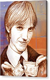 Tom Petty - Stylised Drawing Art Poster Acrylic Print by Kim Wang