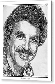Tom Selleck In 1984 Acrylic Print