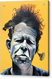 Tom Waits - He's Big In Japan Acrylic Print by Kelly Jade King