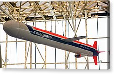 Tomahawk Cruise Missile In A Museum Acrylic Print by Jim West