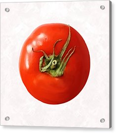 Tomato Acrylic Print by David Blank