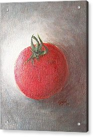 Acrylic Print featuring the painting Tomato by Jane  See