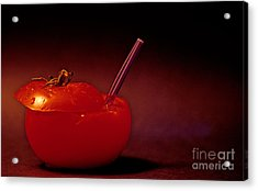 Acrylic Print featuring the photograph Tomato Juice by Sharon Elliott