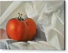 Tomato Acrylic Print by Peter Orrock