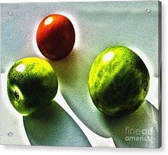 Tomato Phases Acrylic Print by Kim Lessel
