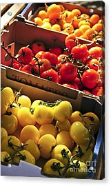Tomatoes On The Market Acrylic Print