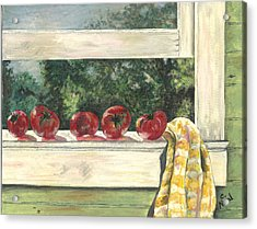 Tomatoes On The Sill Acrylic Print