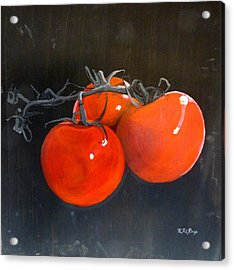 Acrylic Print featuring the painting Tomatoes by Richard Le Page