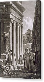 Tomb Of Absalom, Valley Of Jehosophat Acrylic Print by Louis Francois Cassas